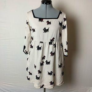 H&M Scotty Dog Themed Dress Size 6